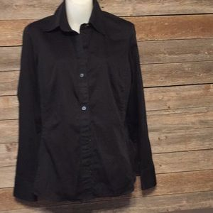 Banana republic black button down